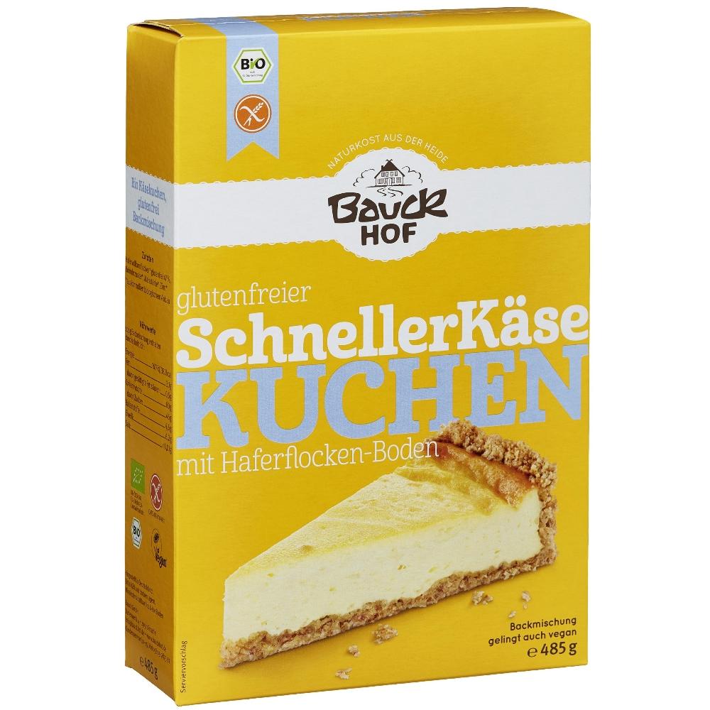 Bauckhof Bio Schneller Kasekuchen Backmischung Glutenfrei 485g