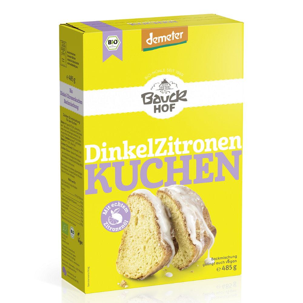 Bauckhof Demeter Dinkel Zitronenkuchen 485g Backmischung Von Bauck